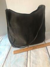 DKNY Vinyl Tote Large Purse Classic Shoulder Bag Women's Brown