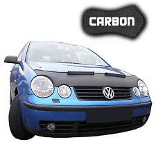 Haubenbra VW Polo 4 9N CARBON Hood Bonnet Bra Steinschlagschutz Front Mask NEU