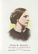 2007 Topps Allen and Ginter Baseball #24 Susan B. Anthony Civil Rights Leader