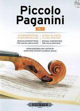 Violine + Klavier Noten Piccolo Paganini 1  30 Konzertstücke 1. Lage m CD mittel