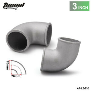 "76mm 3"" Cast Aluminium Elbow Pipe 90 Degree Intercooler Turbo Tight Bend"