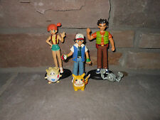 Pokemon Tomy Original Ash Misty Brock Pikachu Togepi and Geodude the whole team!