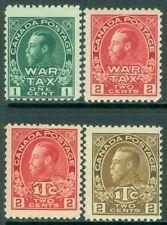EDW1949SELL : CANADA 1915-16 Scott #MR1-4 All Very Fresh & Mint NH Catalog $282