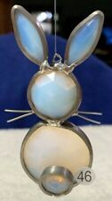 Handmade Stained Glass Suncatcher Window Art Small Bunny Faceted Jewels Nice 46