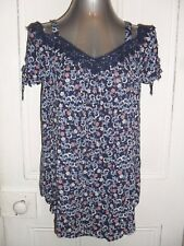 BNWT Target Collection Maternity wear size 10 navy floral maternity blouse EC