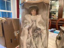 Collector's Choice Fine Porcelain Bisque Girl Doll Auburn Hair Blue Eyes Angel