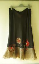 Planet skirt,  sz 14 ,black , red, pink , brown, spotty, hippy, boho