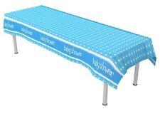 2.8m bleu baptême nappe table plastique petit garçon nouveau né vaisselle