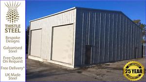 Steel Buildings Bespoke Prefab Double Garage
