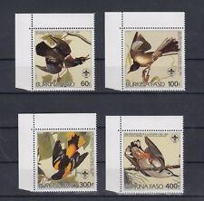 TIMBRE STAMP 4 BURKINA FASO Y&T#649-52 OISEAU BIRD NEUF**/MNH-MINT ~A76