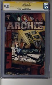 Archie (2015) # 1 T-Rex Variant - CGC 9.8 WHITE Pages - SS Mark Waid