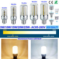 1-4Pack E27 E14/12 B22 GU10 LED Light Bulb 5736 SMD Corn Lamp 5W 10W 15W 20W 25W