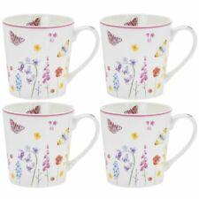 Butterfly Garden Mugs Set 4 Fine China Tea Mug cups free fast postage