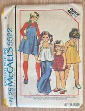 Vintage 1977 McCall's 5522 Uncut Sewing Pattern Girl's Dress Jumper 28 Breast