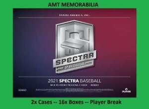 Travis d'Arnaud Atlanta Braves 2021 Panini Spectra 2X Case 16X BOX BREAK #12