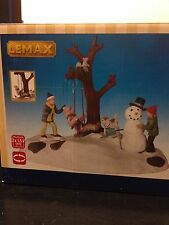 "Lemax Christmas Snow Village ""SWING TIME"" Animated w Battery Pack"