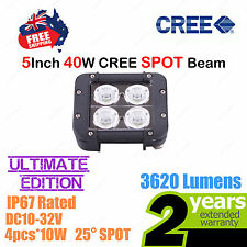 5inch 40W CREE LED Light Bar High Output Ultimate Edition Double Row SPOT Beam