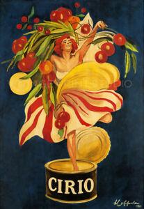 Cirio Tomatoes 1921 Cappiello Vintage Food Advertising Giclee Canvas Print 20x29