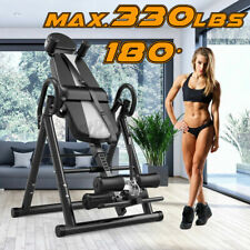 Adjustable Gravity Inversion Table Back Pain Therapy Reflexology Fitness Sports