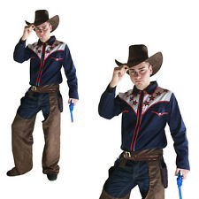fancy dress rodeo cowboy costume adult wild western stag part mens s/m
