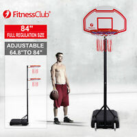 Portable Height Adjustable Basketball Hoop Stand Backboard System W/Wheels