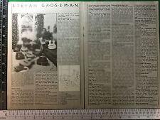 Stefan Grossman guitar collection magazine feature