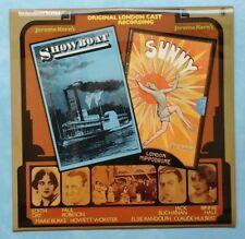 JEROME KERN~SHOWBOAT & SUNNY (LONDON CAST RECORDINGS)~1976 UK 18-TRACK MONO LP
