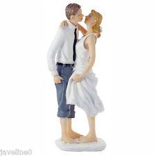 Figurine Mariage A La Plage Couple de Mariés Résine