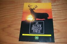 JOHN DEERE  ALL-NEW  BREED  OF  POWER  Tractor  LITERATURE