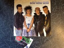 """BOW WOW WOW Do You Wanna Hold Me? UK 7"""" PS 1983 Producer Mike Chapman"""
