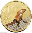 2009 Land Series - Frilled Neck Lizard, $1 One Dollar UNC Coin in Card RAM