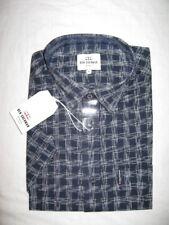 Mens Ben Sherman Mod Check Summer Short Sleeve Shirt in Navy - Pocket to S MA13380B51NAV245