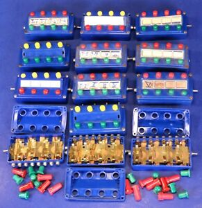 Lot of Marklin HO Scale Push-Button Control Panels for Restoration or Parts 7211