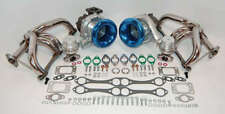 NEW Small Block Chevy Twin Turbo kit SBC 350 383 1000+hp Turbocharger Air Horns