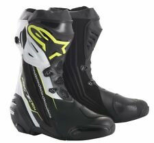 Alpinestars Supertech R Black/FLUO(158)Racing & Sport Motorcycle Boots-New 2018
