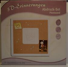 3D-Erinnerungen, Abdruck-Set Pinnwand, ca. 36x36cm, OVP