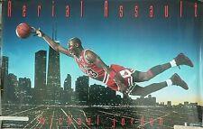 RARE MICHAEL JORDAN BULLS AERIAL ASSAULT 1992 VINTAGE ORIG COSTACOS NBA POSTER
