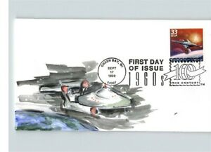 STAR TREK, Starship Enterprise, Hand Painted First Day of Issue