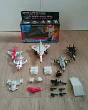Original Transformers G1 Superion/Aerialbots 100% COMPLETE with silverbolt box