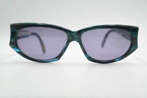 Vintage Rodenstock R3097 60 14 Green Gold Oval Sunglasses NOS