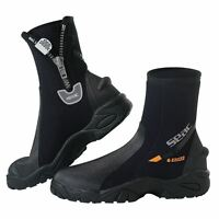 SEAC - Pro HEAVY DUTY Divers WATERSPORTS Neoprene Ankle Boots with Zip HD SOLE