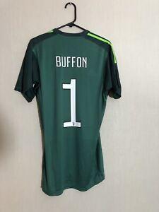 Buffon #1 Juventus 2017/18 Medium Home Goalkeeper Football Shirt Adidas BNWT