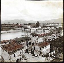 Panorama de Pise Pisa Italie Italia Stereo verre Ferrier Vintage ca 1860