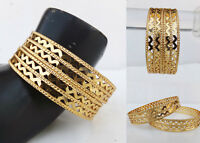 Beautiful Design Golden Bangles Ethnic Indian Jewelry Women Fashion Bracelet Set