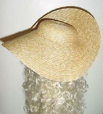 """Straw Hat Ladies 13"""" Molded 18th Century Reproduction"""