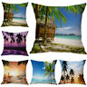 Summer Home Decoration Scenery Vacation Beach Pillow Case Coconut Cushion Cover