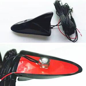 Black Shark Fin Roof Antenna Car Stereo Radio AM/FM GPS Signal Aerial Amplifier