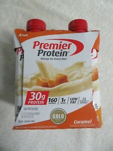 (4) Premier Protein High Protein Shake Caramel Flavor 11 Oz Each @O
