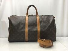 Auth LOUIS VUITTON Monogram Keepall Bandouliere 45 Travel Bag 9E100040g