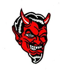 Patch patches embroidered iron on chopper biker devil 666 biker motorcycle
